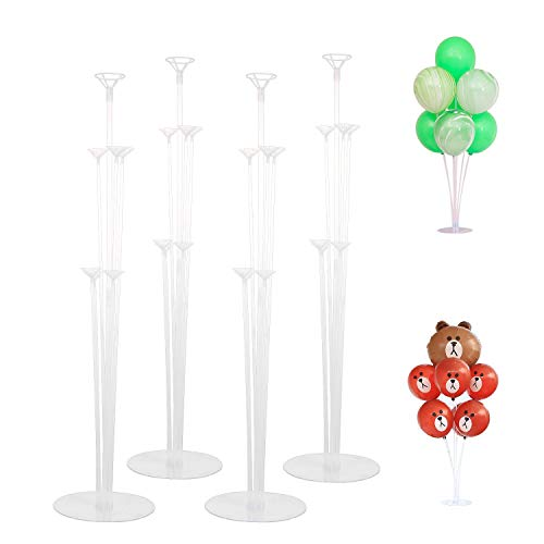Ulikey 4pcs Supports de Ballon de Table Stand Bâtons de Ball