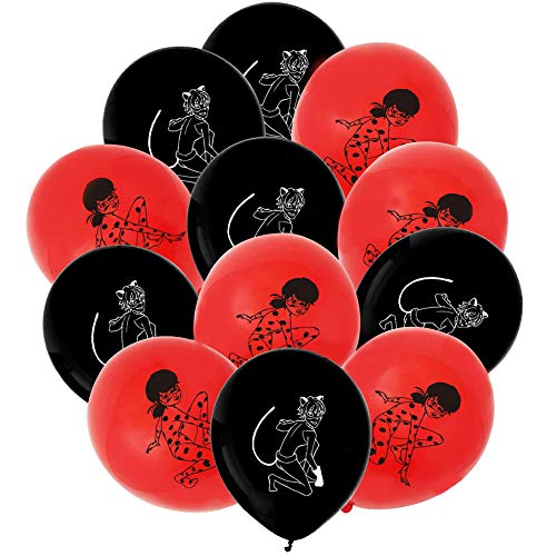 Miraculous Ladybug Party Supplies Set,45 Pièces Ballons, Déc