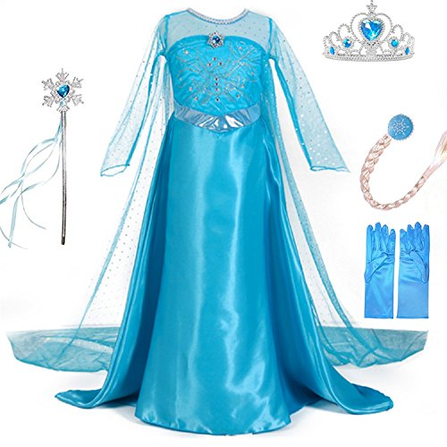 LiUiMiY Deguisement Robe Princesse, Costume Enfant Fille d'h