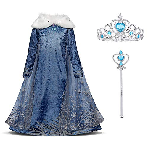 URAQT Elsa Costume, Anna Dress Princess Dress Up pour Les Fi